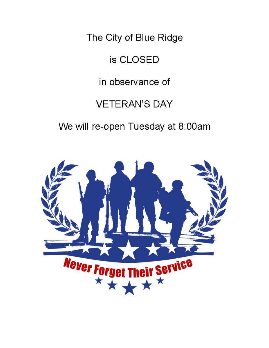 Veteran's Day Closure